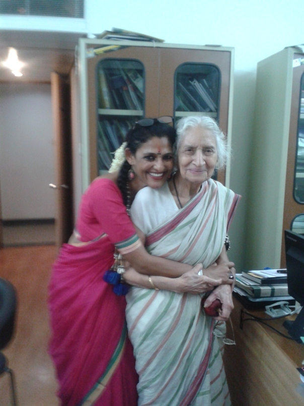 Navina Jafa with Kapila Vatsyayan