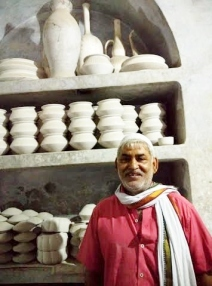 Zaheer and his pottery