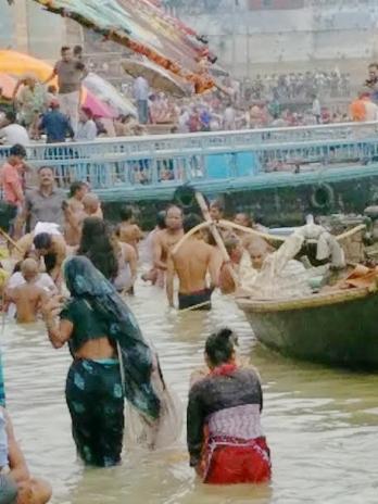 Ghat bathing