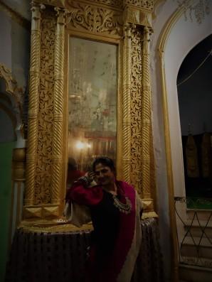Gilded mirrors in Imambara